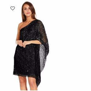 Adrianna Papell Black Sequin Cocktail Dress